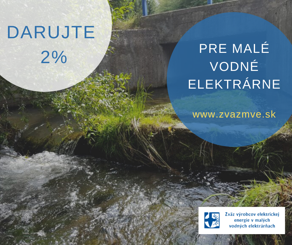 Darujte 2% pre energiu malej vody